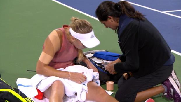 Cincinnati: Wozniacki muss verletzt aufgeben