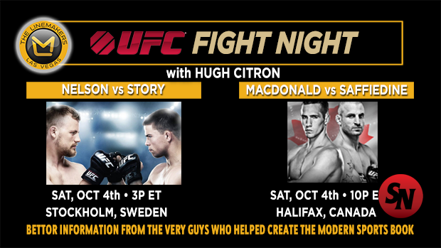 UFC Fight Night Macdonald VS. Saffiedine / Nelson VS. Story