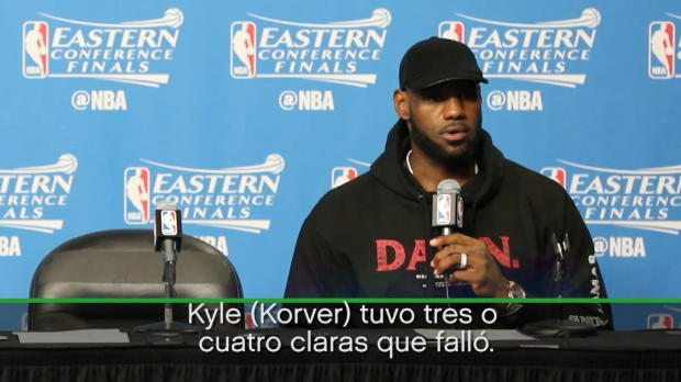 "Lebron James: ""No jugamos tan bien"""