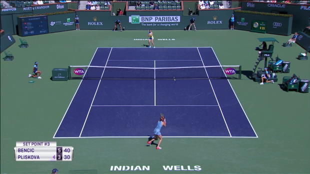: Indian Wells - Bencic continue sur sa lancée en écartant Pliskova