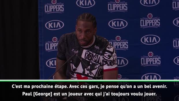 """Basket : Clippers - Kawhi Leonard - """"On peut écrire l'histoire"""""""