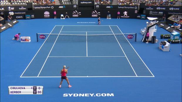 Tennis : TENNIS - WTA Sydney - Kerber déroule contre Cibulkova (6-3 6-1) et file en demies