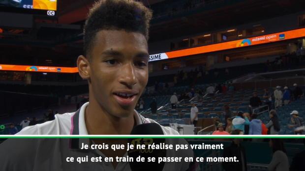 """Basket : Miami - Auger-Aliassime - """"Je ne réalise pas"""""""