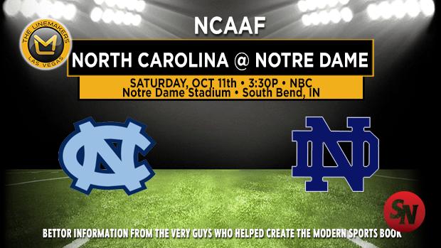 North Carolina Tar Heels @ Notre Dame Fighting Irish