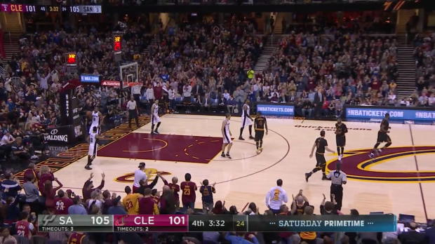 WSC: Spurs vs. Cavs All Makes & Clutch Moments From LeBron's Game-Tying 3 Until End of Game