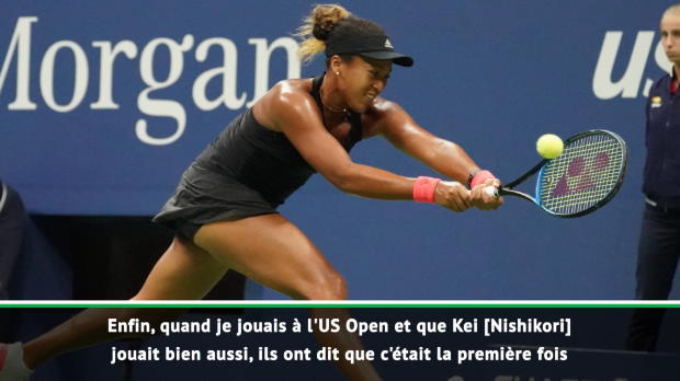 : US Open - Osaka - 'Devenir un modèle comme Nishikori'