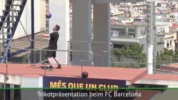 FC Barcelonas majestätische Trikotpräsentation