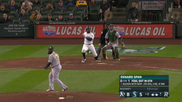 Span's 2-run double in the 8th