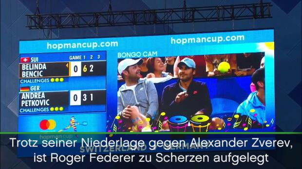 Hopman Cup: Federer mit irrem Bongo-Duell