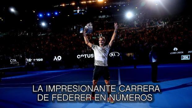Open de Australia - La carrera de Federer en números
