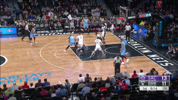 WSC: DeMarcus Cousins with 10 Assists against the Nets