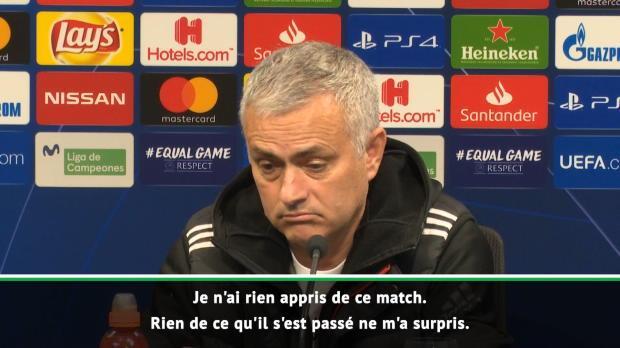 Groupe H - Mourinho - 'Je n'ai rien appris de ce match'