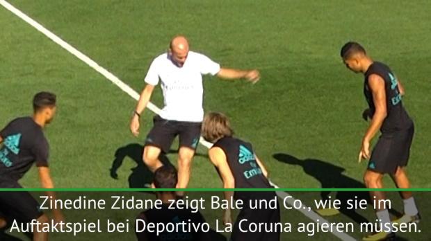 Zaubernder Zidane lässt Spieler alt aussehen