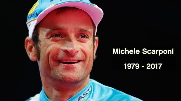 Facelle Michele Scarponi tras ser atropellado por una furgoneta