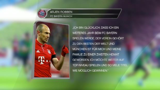 Robben verlängert beim FC Bayern bis 2018