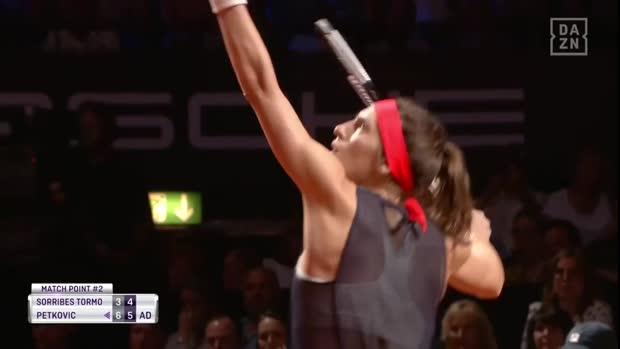 WTA Stuttgart: Andrea Petkovic mit dem Sieg - nun im deutschen Duell gegen Kerber
