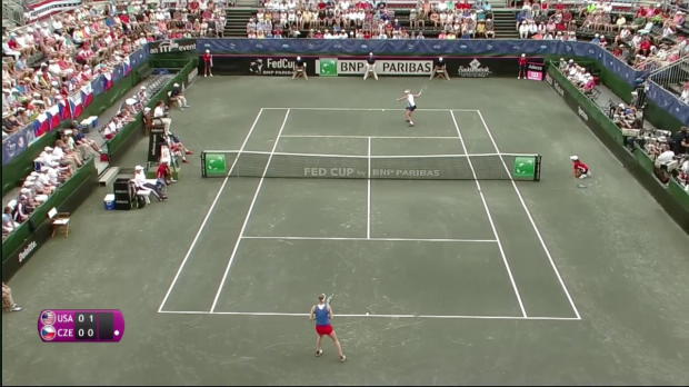 Fed Cup: USA - Tschechien, Tag 1