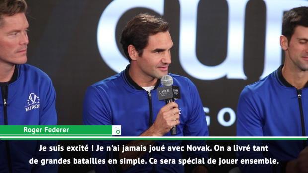 """Basket : Laver Cup - Federer et Djokovic en double - """"Une expérience unique !"""""""