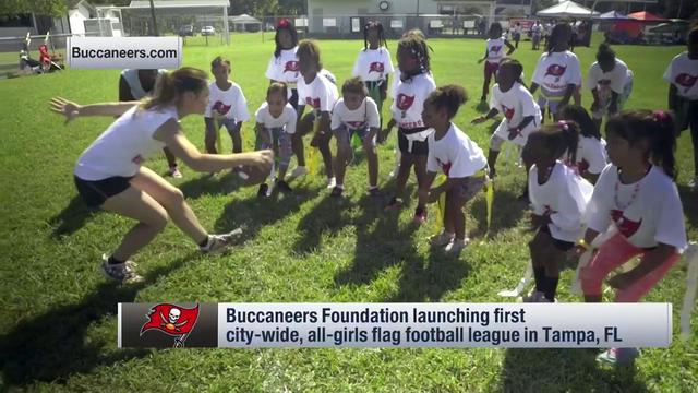 Buccaneers foundation helps launch girls flag football league
