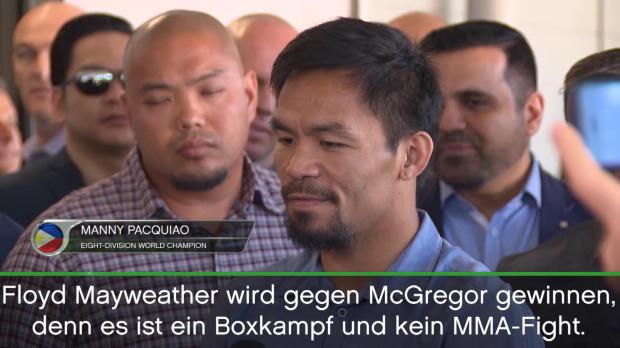 Boxen: Pacquiao tippt Mayweather vs. McGregor