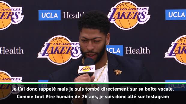 Basket : NBA - Davis explique comment il a appris son transfert sur Instagram !