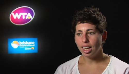Suarez Navarro Interview: WTA Brisbane 1R