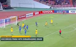 A brace from Mile Jedinak earned the Socceroos a hard-fought 2-2 draw with Thailand in Bangkok.