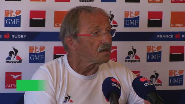 """Rugby : XV de France - Brunel - """"On va surtout demander aux jeunes de jouer en équipe"""""""