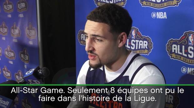 Basket : NBA - All-Star Game - Thompson heureux de retrouver ses coéquipiers