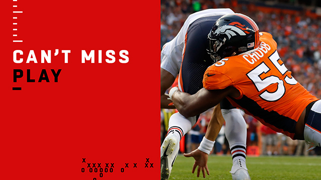 Can't-Miss Play: Chubb's first preseason sack goes for SAFETY