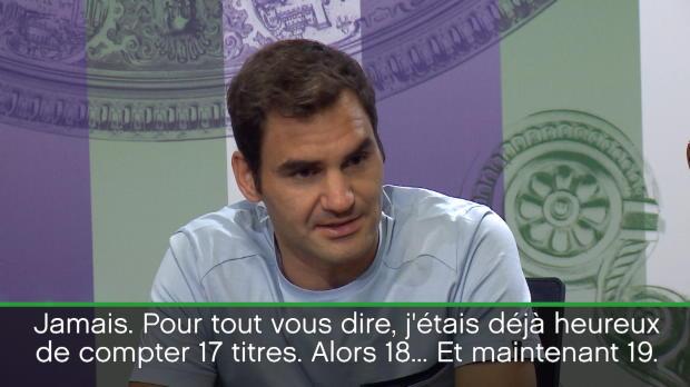 """Basket : Wimbledon - Federer - """"17 titres, c'était déjà extraordinaire"""""""