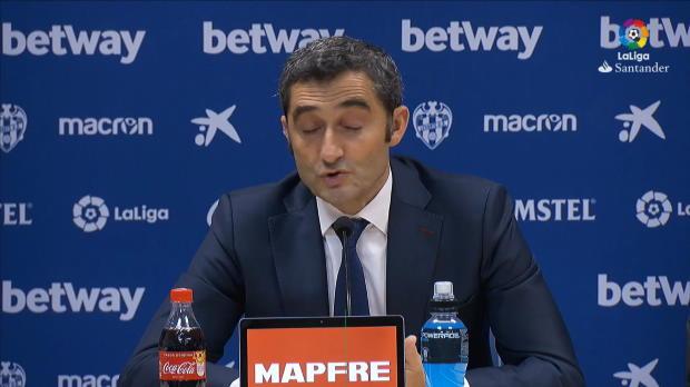 16e j. - Valverde - 'Nous devons nous réjouir d'avoir Messi'