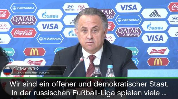"Confed Cup: Mutko: ""Keine Rassismus-Probleme"""