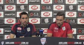 Adelaide United Assistant Coach, Pau Martí, and midfielder, James Holland, speak to the media ahead of the Reds' match with Wellington Phoenix.