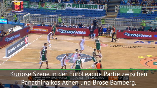 Euroleague: Kurioser Doppelpass mit Schiri