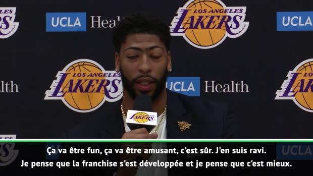 """Basket : Davis - """"Les Lakers se sont développés"""""""