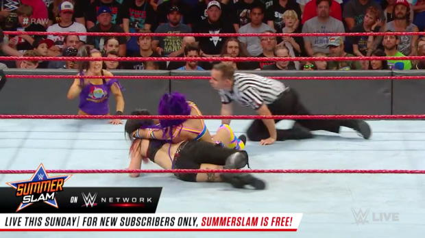Sasha Banks vs. Ruby Riott: Raw, Aug. 13, 2018