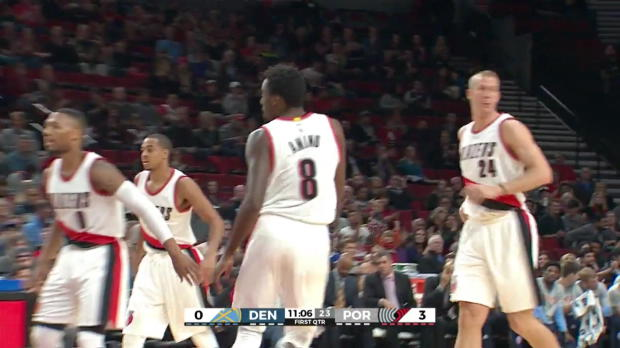 WSC: Al-Farouq Aminu with 5 3-pointers against the Nuggets