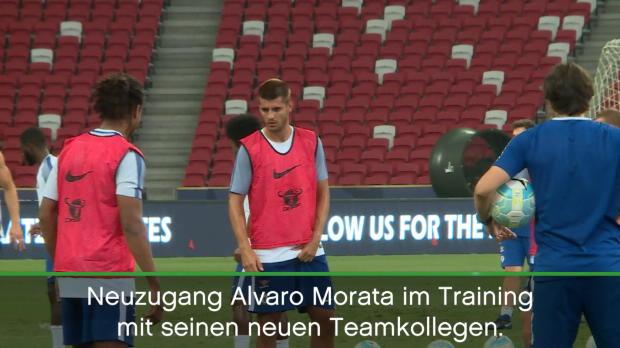 Gegen FCB: Rekordtransfer Morata vor Debüt