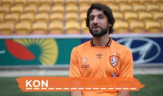 We asked the Brisbane Roar boys how to spell the last name of our Hyundai A-League Scholarship recipient, Nathan Konstandopoulos.