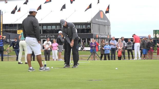 McIlroy practises ahead of Open challenge