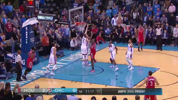 WSC: James Harden with 12 assists against the Thunder