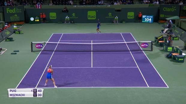 Miami: Olympiasiegerin Puig schockt Wozniacki
