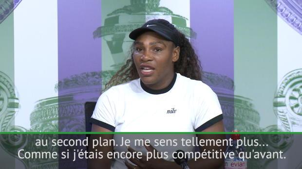 : Wimbledon - Williams - 'Encore plus compétitrice qu'avant'