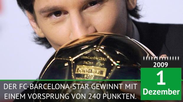 Ballon D'Or: Messi seit 2009 auf Rekord-Jagd