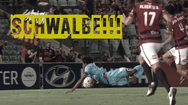 A-League: Schiri entlarvt Super-Schwalbe