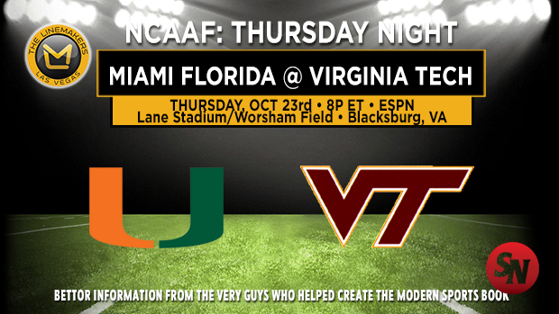 Miami (FL) Hurricanes @ Virginia Tech Hokies