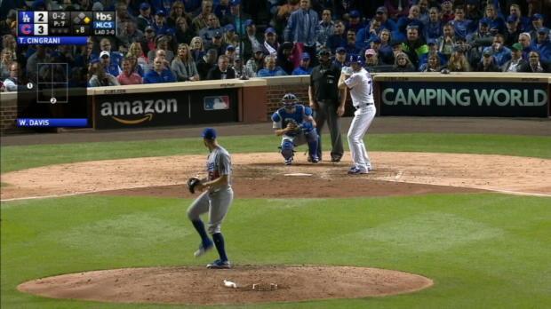Davis' nine-pitch at-bat