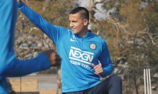 We focus on Tim Cahill in motion as the team continues pre-season training.