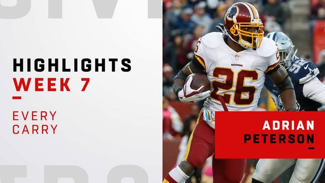 Every Adrian Peterson carry from 98-yard game | Week 7